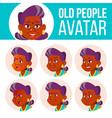 indian old woman avatar set hindu asian vector image vector image