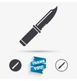 Knife sign icon Edged weapons symbol vector image vector image