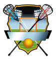 Lacrosse Badge vector image vector image