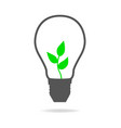 light bulb with young tree inside vector image vector image