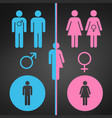 male and female symbol set gender concept usable vector image vector image