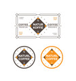 minimal coffee label and badge vector image vector image