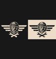 motorcycle repair vintage emblem vector image vector image