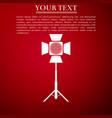 movie spotlight icon light effect scene studio vector image