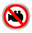 no camera no photo sign red prohibition - vector image vector image