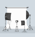 photography equipment flat vector image vector image