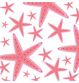 pink starfishes wildlife vector image