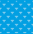 power saw bench pattern seamless blue vector image vector image