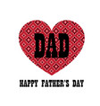 red bandana heart fathers day vector image vector image