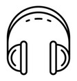 retro headset icon outline style vector image vector image