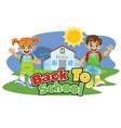 school kid back to school cartoon set vector image vector image