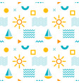 seamless abstract pattern with sun boat and vector image