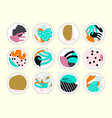 set of decor elements and stickers vector image vector image