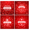 set of typographic backgrounds of the holiday vector image vector image