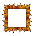 Squared frame with spurts of flame vector image vector image