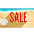 Summer sand of beach on the seashore selling ad
