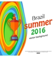 Summer travel brazil background for sport banner vector image vector image