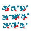 Swoosh Patriotic Alphabet Logo vector image vector image