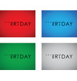 thursday to friday turning text set vector image vector image