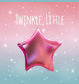twinkle little star on night sky background vector image