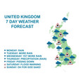 united kingdom seven day weather forecasts vector image vector image