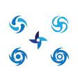 vortex icon vector image vector image