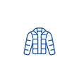 winter jacketdownjacketoutdoor clothes line icon vector image