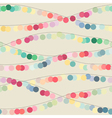 Seamless background with multicolored garlands vector image