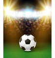 Abstract soccer football poster Stadium background vector image