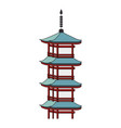 japanese temple isolated icon vector image