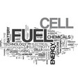 a basic overview of fuel cell technology text vector image vector image