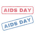 aids day textile stamps vector image vector image