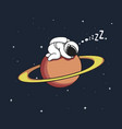 astronaut sleeps on uranus vector image vector image