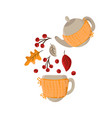 autumn pouring tea party knitted teapot
