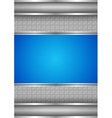 background template metallic texture blue blank vector image vector image