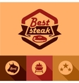 best steak labels vector image