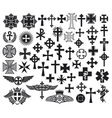big collection crosses vector image vector image