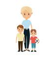 blonde grandmother together grandchilds image vector image