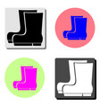 boots flat icon vector image