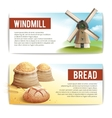 Bread Banner Set vector image vector image