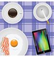 buffet breakfast vector image vector image