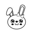 bunny kawaii cartoon vector image vector image