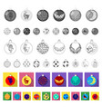 christmas toys flat icons in set collection for vector image vector image