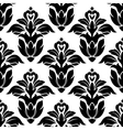 classic floral seamless pattern with black flowers vector image vector image