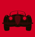 classic vintage car front vector image vector image