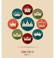 crowns vintage set vector image