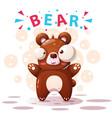 cute bear characters - cartoon vector image vector image