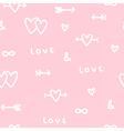 Cute romantic love seamless pattern vector image vector image