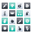 different kinds of fruits and vegetable icons vector image
