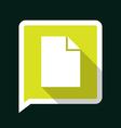 docLongShadow vector image